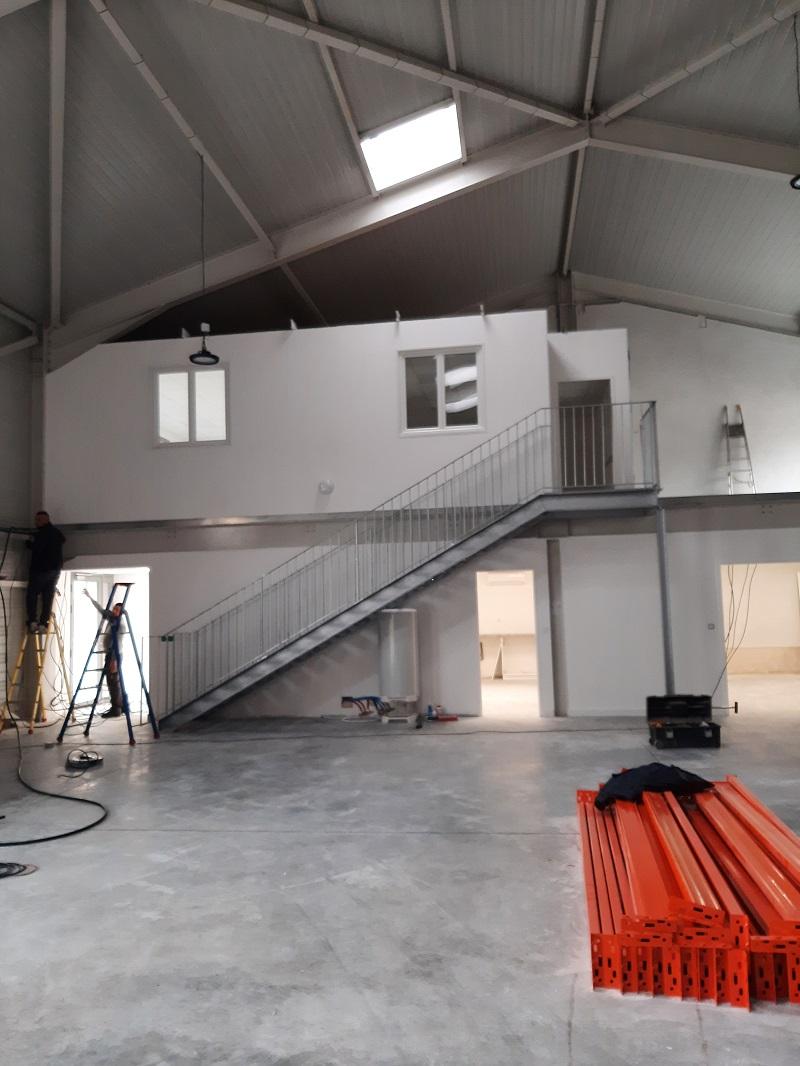 Bureaux et atelier en cours d'aménagement de la société TSM3D